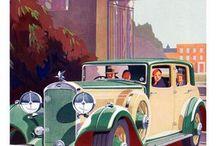 Retro poster cars