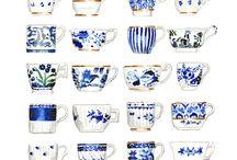 Delft - Blue & white