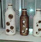 Garrafas de vinho decorativas
