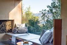 Hjem  - stue vindu sitteplass