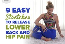 Stretches and pilates exercises