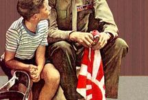 ART - NORMAN ROCKWELL / by Linda Guedel