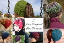 Knit Hat With Ponytail Hole