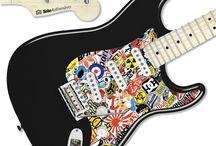 VINILOS PARA INSTRUMENTOS DE MÚSICA / Decoración de instrumentos de música, como guitarras y baterías, usando pegatinas, vinilo decorativo etc.