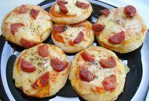 Mini pizza de massa integral