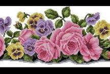 cross-stitch embroidery / cross-stitch patterns, diagram, inspiration