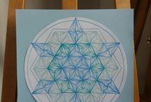 eigen werk / mandala tekenen en intuïtieve schilderijen
