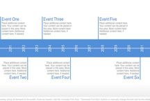 Timeline / Timeline graphics show and describe events, steps or project phases over the course of years, months, weeks or days.