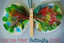 Kaffifilter sommerfugl