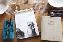 Le Secret des Rôtisseurs / DesignLSM's branding and interior design team created a full brand identity and unique restaurant interior design.