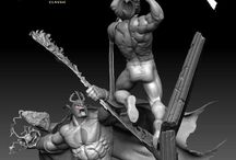 Lion-O Vs Mumm-Ra diorama Statue / Here is the first look of our Lion-O vs Mumm-Ra diorama statue. The super dynamic scene depicts Lion-O and Mumm-Ra engaged in a fierce battle inside Mumm-Ra's pyramid. Using the Sword of Plun-Darr as a shield, Mumm-Ra charges up an energy bolt as Lion-O, in mid-air, is in the midst of delivering a crushing blow with the Sword of Omens.