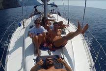 Flottiglia vela - Capri 2014 / Un allegro week end in barca a vela con 4 barche ed un catamarano con : sole, mare, vela, allegria e...spritz a volontà.....