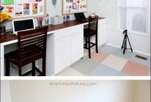Office space // Craft Room // Guest Bed