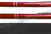 Bolígrafos / Bolígrafos metálicos personalizados  en varios colores. Pedidos mínimo de 50 unidades. Solicitenos un presupuesto sin compromiso.
