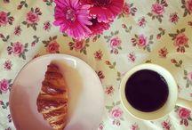 Coffee ...what else ? / Coffee , breakfast , croissants