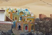 EGYPT NUBIAN VILLAGE / SOUTHERN ASWAN / NORTHERN SUDAN EGYPT / by DOROTHY