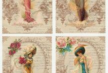 Vintage cards & paintings.. art etc.
