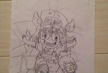 haguna0312 / 10歳の娘が原画を見ながら描いたものです。