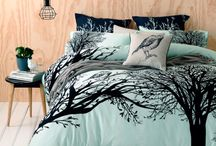 Bedroom Ideas / Covers Lamps Blankets Pillows