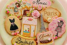 Paris Vintage cookies set