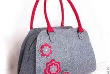 Сумки из фетра / Женские сумки из фетра ручной работы