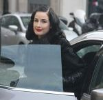 DITA VON TEESE Out and About in Paris