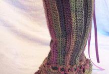 Crochet, legwarmers