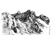 Carmesine | Artworks / Ink on paper
