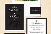 design — invites + stationary / by Sarah Dillonaire / Print Darling