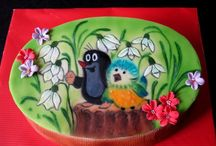 My airbrush and hand painted cake