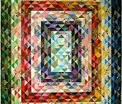 Quilts: Basic Shapes / All straight lines and angles / by Jennifer Faith