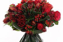 букеты в красном цвете