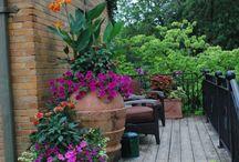 Balkony, terasy, truhliky