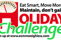 2015 Holiday Challenge / It's time for the 10th annual Eat Smart,Move More, Maintain, don't gain! Holiday Challenge! We will share tips, recipes, and strategies to maintain your weight this holiday season. A lighter version of green bean casserole, taking the stairs at the mall- it all adds up!  Sign up for the free Holiday Challenge at www.esmmweighless.com. We are all in this together! / by Eat Smart Move More Weigh Less