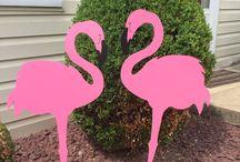 Flamingo and Pineapple