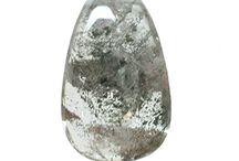 Lodalite Phantom Quartz beads, cabochons and focal pendants