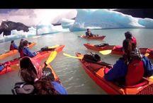 Kayak Aventura / Galeria de imagenes de kayak en plena naturaleza patagonica. En frente de los glaciares Perito Moreno y Upsala