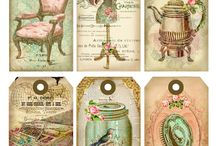vintage label cards