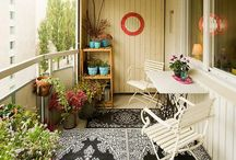 Balcony ideas  / How to turn the balcony into a cosy space