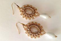 handmade beadwoven earrings