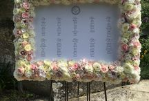 Flower table plan / Rose and hydrangea luxury wedding seating plan