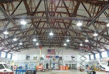 Hangar Lights / #hangar lights; LED and Induction high bay and parking lot lightings