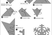 切り紙雪の結晶(Snowflakes )