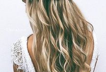Sash bridesmaid hair