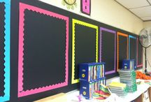 Chalkboard and Bright Classroom