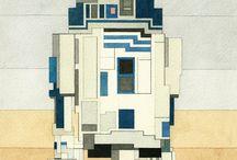 """Adam Lister - """"Star Wars / Gwiezdne Wojny"""" w wersji 8 bitowej. / Adam Lister - Artysta z Nowego Yorku tworzy pracę, które wyglądają jak grafiki 8 bitowe.  Efekt jest rewelacyjny - Galeria z postaciami z """"Star Wars / Gwiezdnych Wojen"""""""