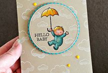 Baby Cards / all handmade and stamped baby cards
