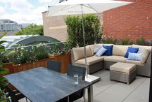 Roof terraces and Roof Gardens / Urban roof garden design and roof terrace and balcony planters in London