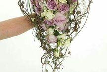 Brudebuketter - Hjerteformede