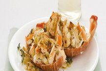 Piatti a base di pesce e crostacei